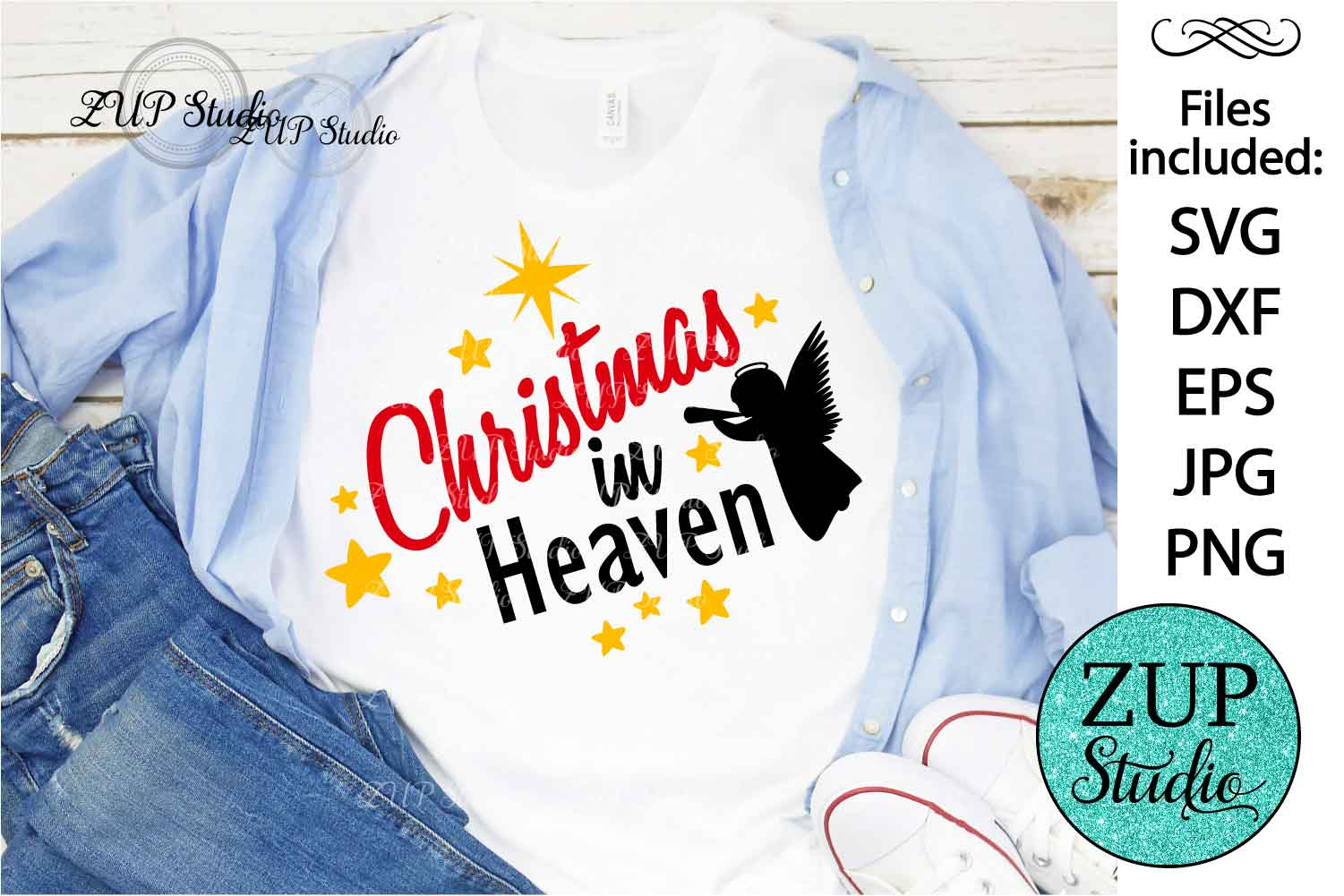 Christmas in Heaven Digital Cutting files file 120 example image 1