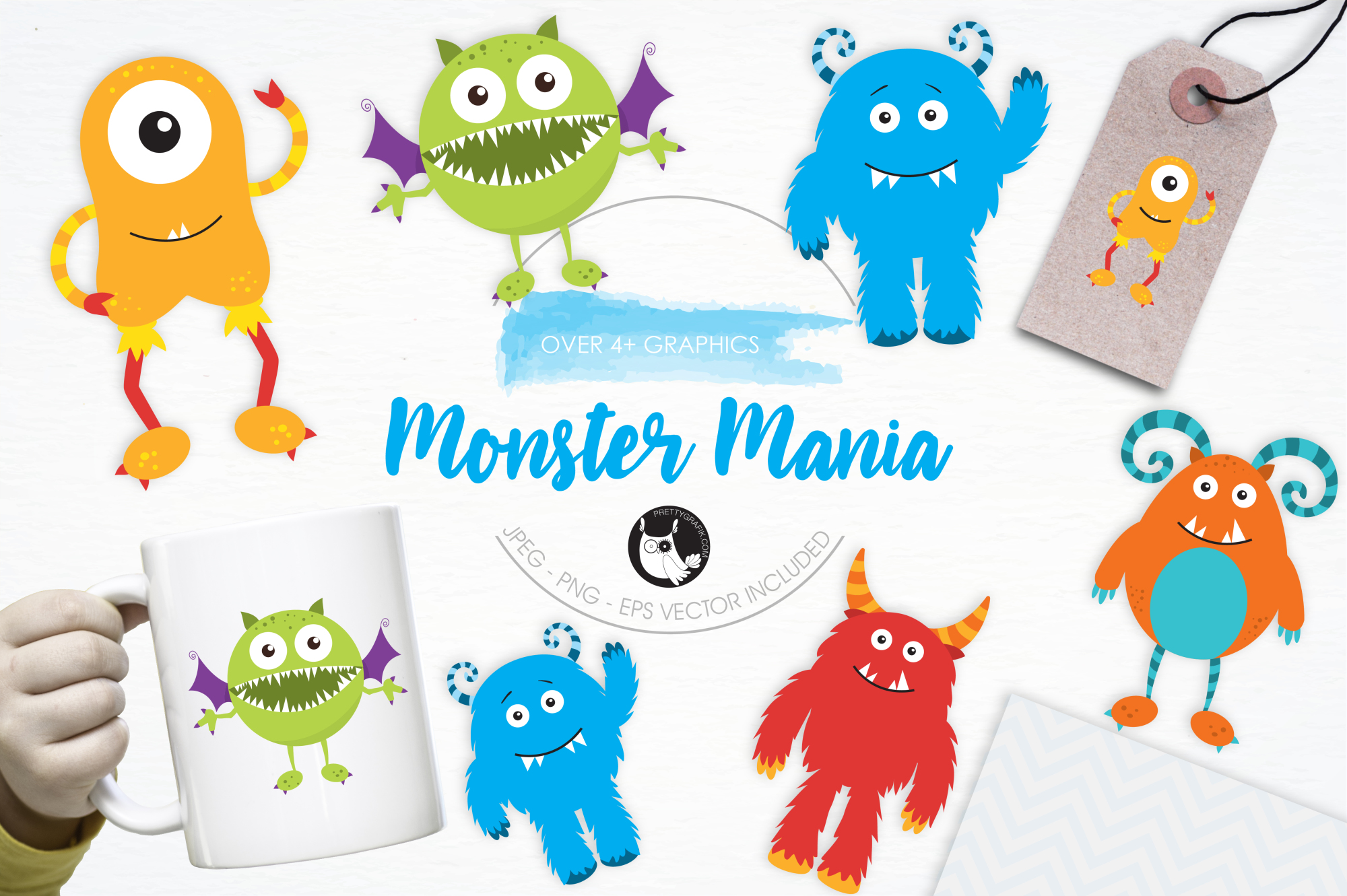 Monster Mania graphics and illustrations example image 1