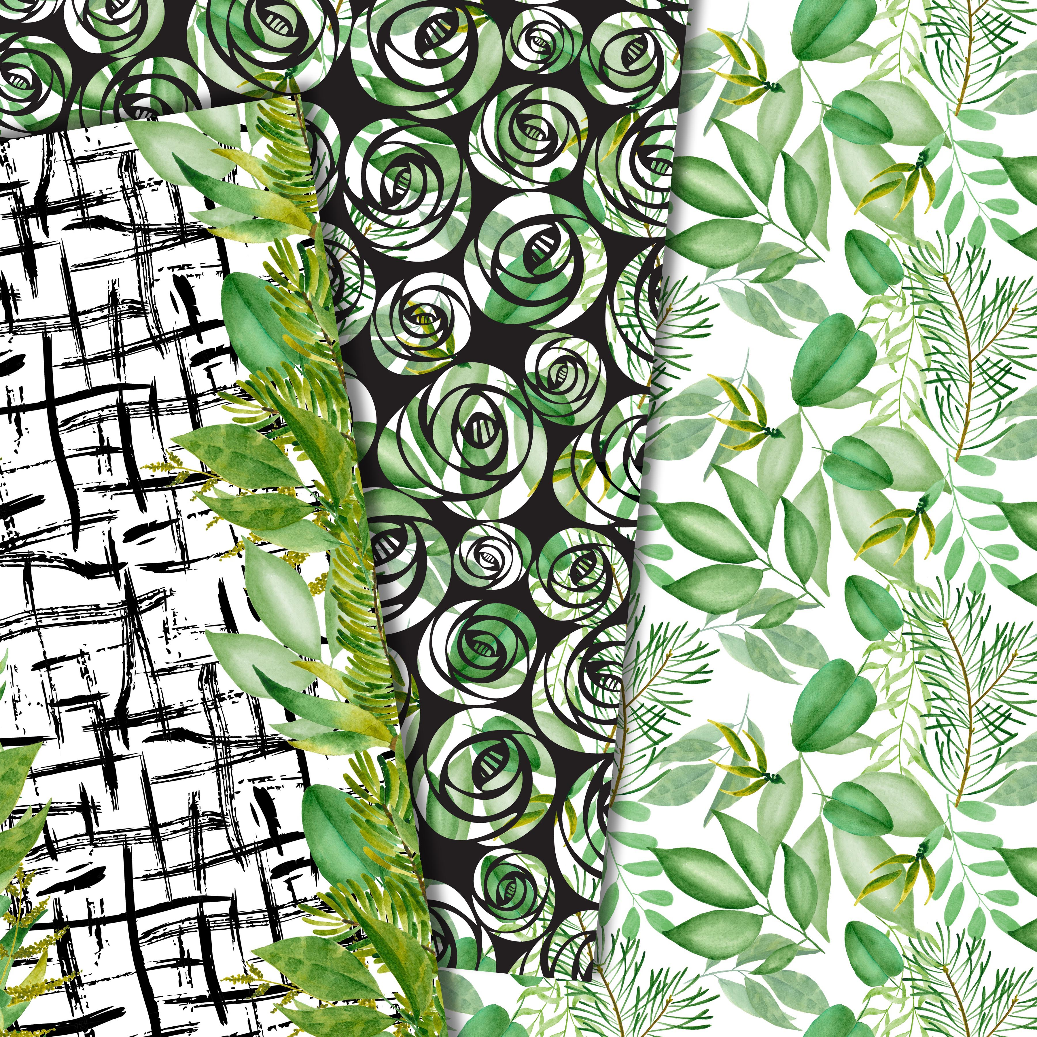 Green leaves paper example image 4