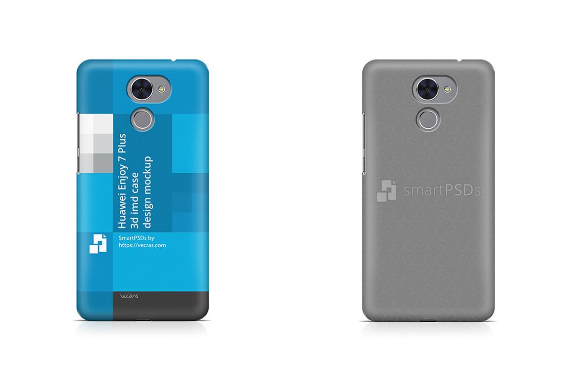 Huawei Enjoy 7 Plus 3d IMD Mobile Case Design Mockup 2017 example image 1
