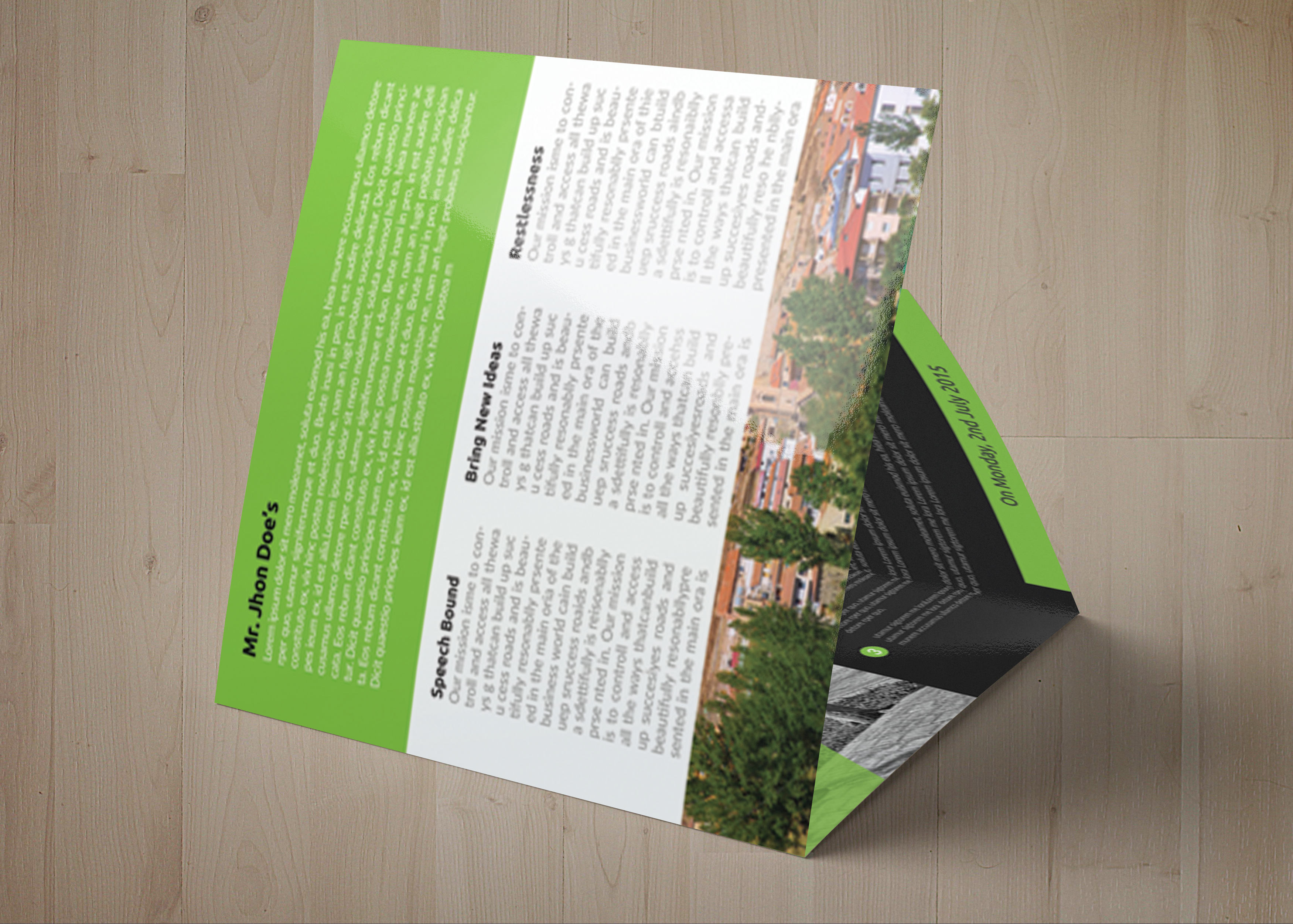 Business Tourist Square Trifold Brochure example image 6