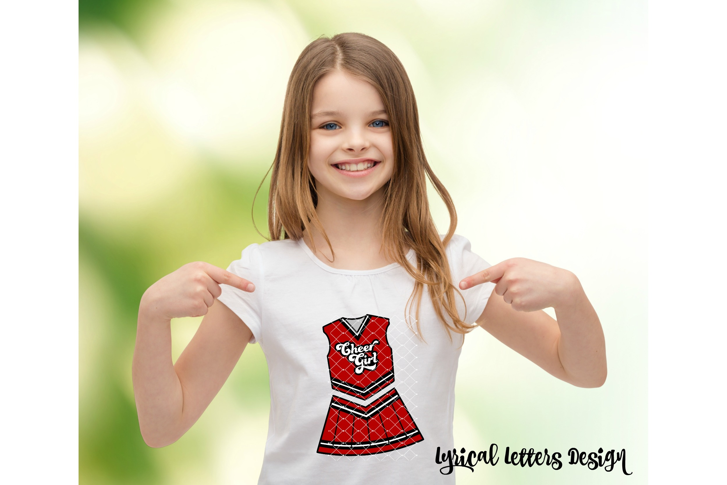 Cheerleader Uniform Cheer Girl SVG DXF Cut File LL164A example image 2