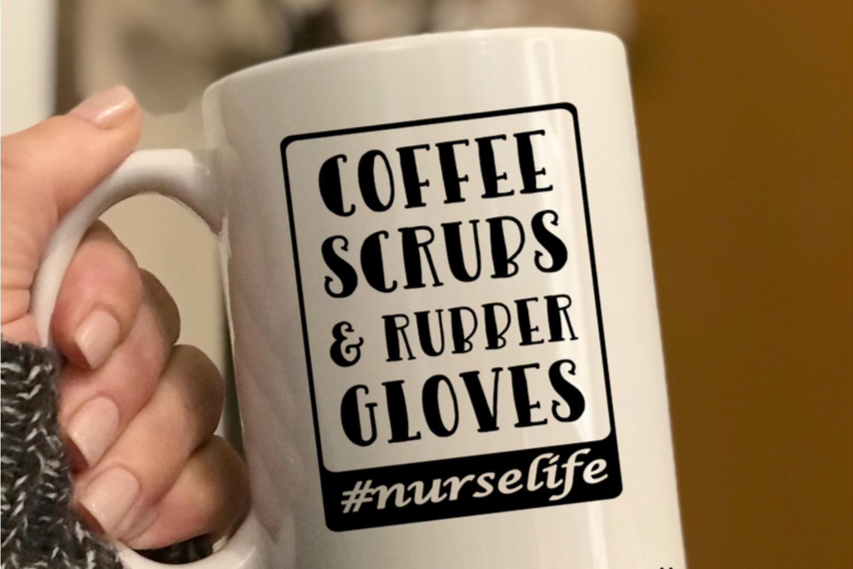 Nurse svg cut file, funny Nurse quote svg, Nurse life svg example image 2