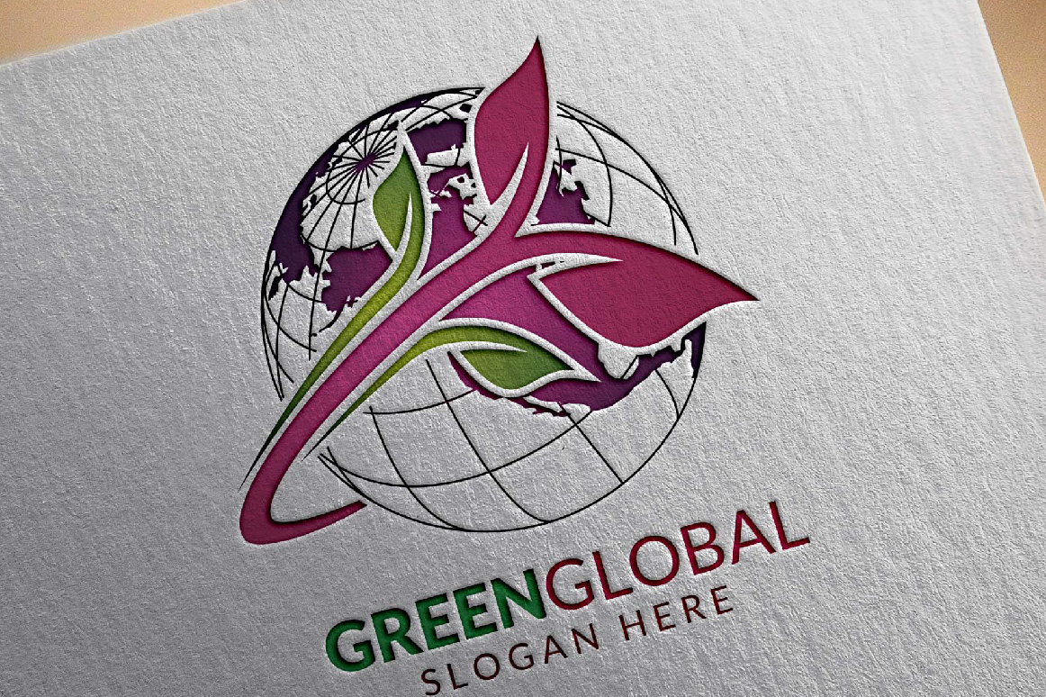 Green Global Ecology logo template example image 7