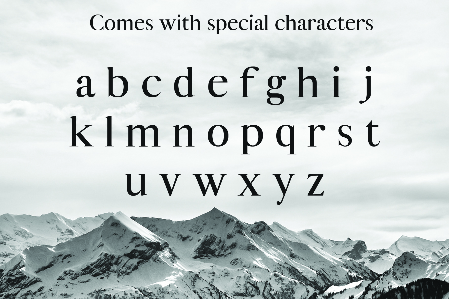 ALISTAIR FONT, A modern Serif example image 4