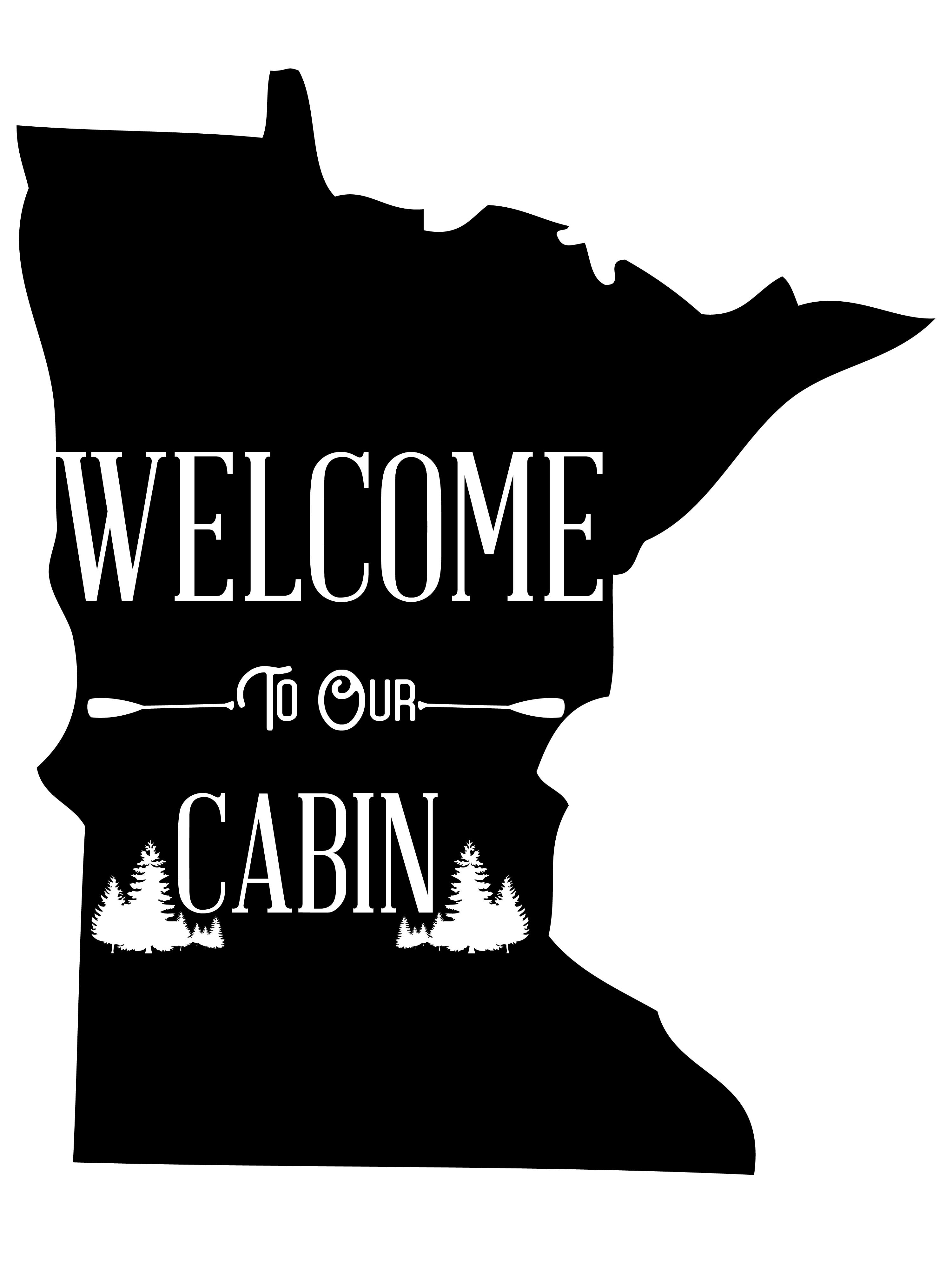 Welcome to our Cabin Graphics files, svg, png, jpg, example image 2