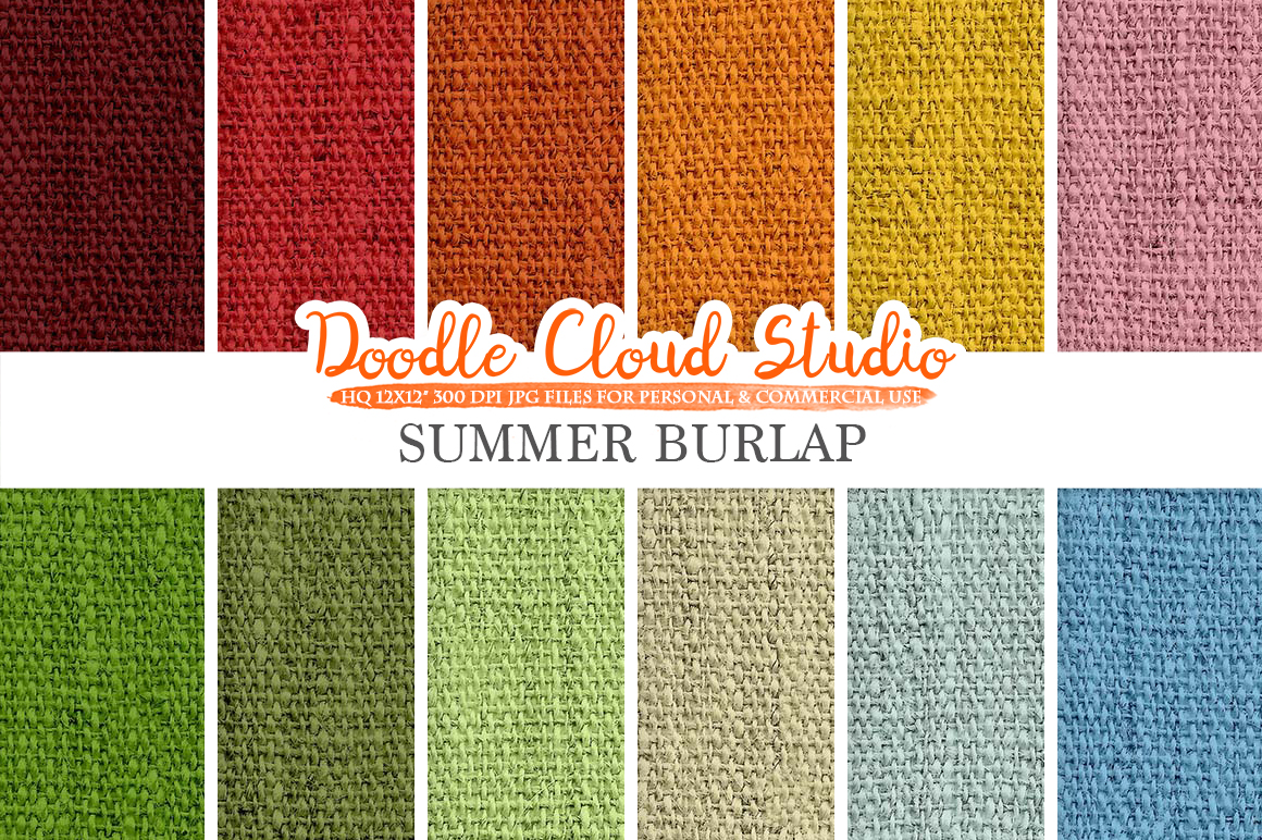Colorful Summer Burlap Fabric digital paper pack, Colorful Bright Backgrounds, Burlap linen printables, Instant Download for Commercial Use example image 2