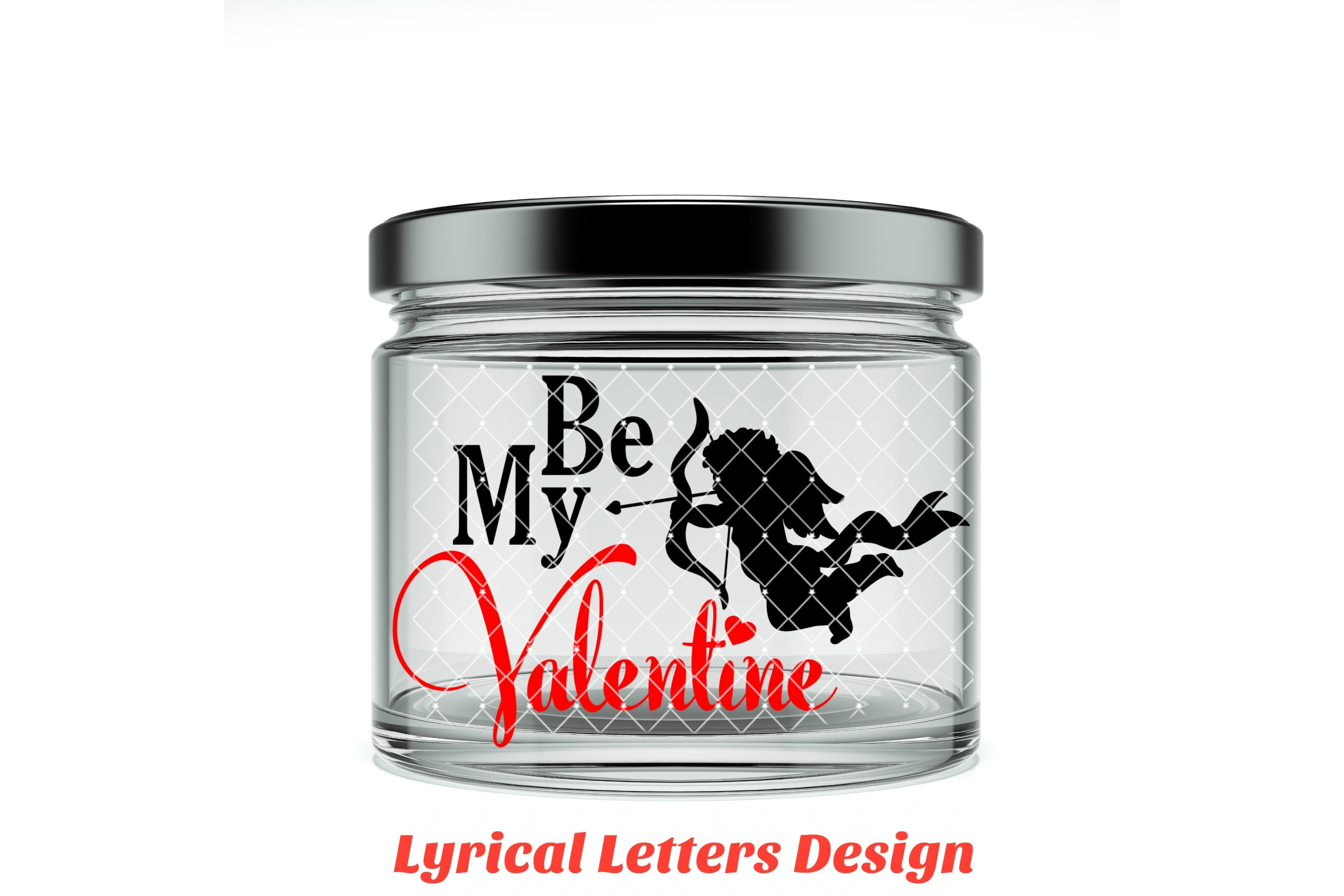 Be My Valentine Cupid Valentine's Day SVG DXF LL003C example image 2
