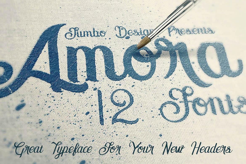 Amora Script example image 5