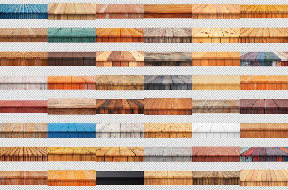 100 Realistic Shelves on Wall. Set 2 example image 7