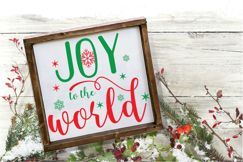 Christmas Svg - Joy to the World example image 2