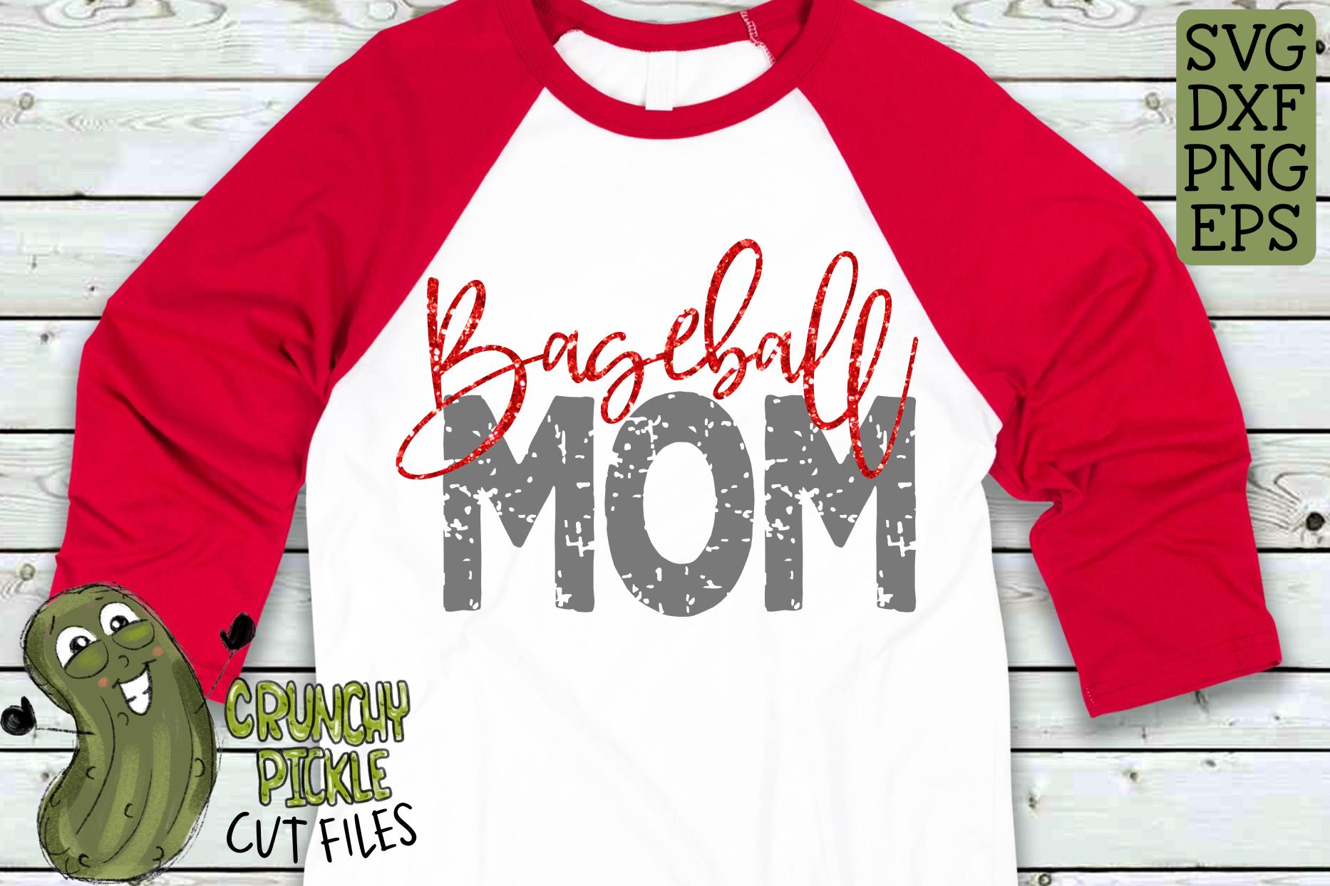 Baseball Mom & Bonus Team Mom Sports SVG Cut File example image 1