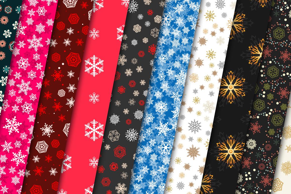 100 Snowflake Seamless Patterns example image 12