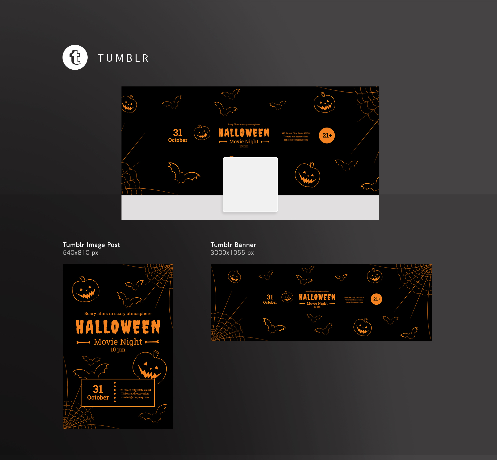 Halloween Movie Night Design Templates Bundle example image 13