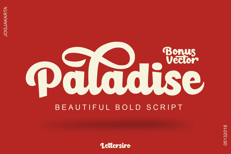 Paladise Font & Extras example image 2