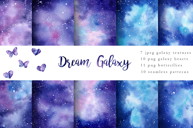 Galaxy Watercolor Collection example image 1