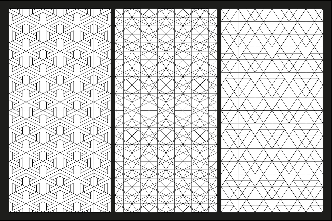 Vector seamless geometric patterns example image 4