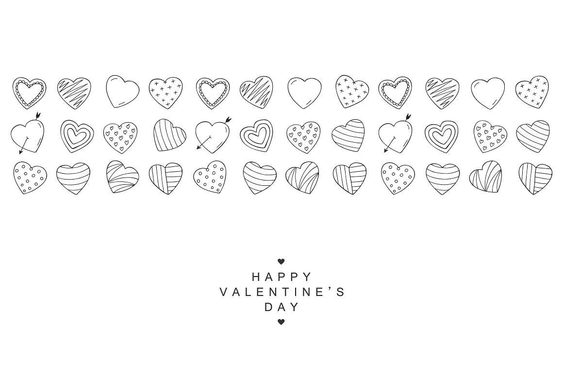 Happy Valentine's Day card. Hearts. example image 4