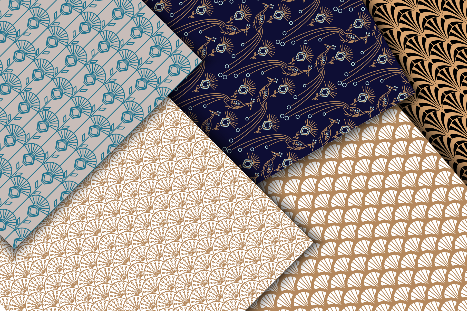 Peacock Fest - Seamless Patterns example image 5
