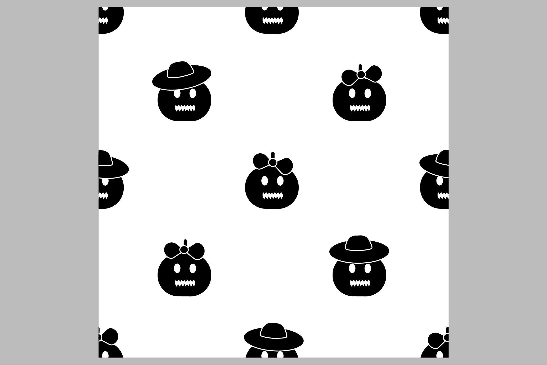 Halloween seamless patterns. Ai, EPS10, JPG, SVG example image 6