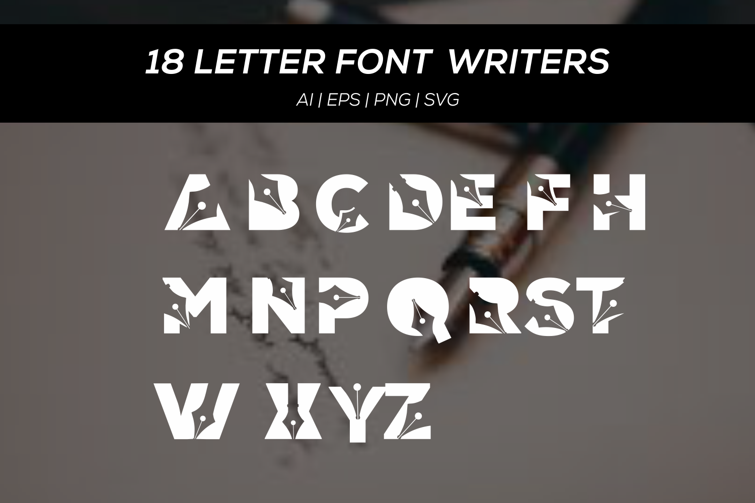 18 letters font writers example image 2