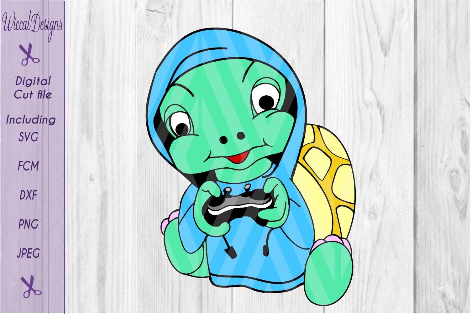 Turtle svg, gaming svg, kids shirt svg, hoodie svg, vinyl cut file example image 2