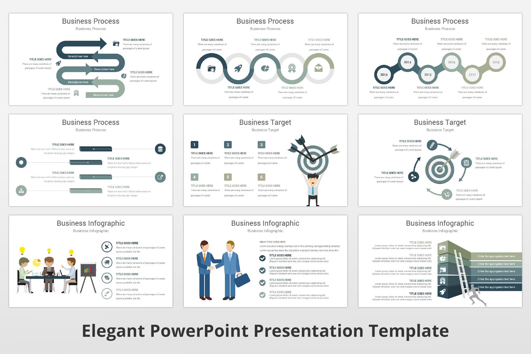 Elegant multipurpose PowerPoint Presentation Template example image 12