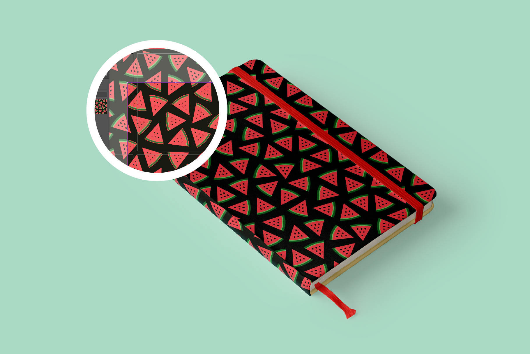 Watermelon Seamless Patterns example image 4