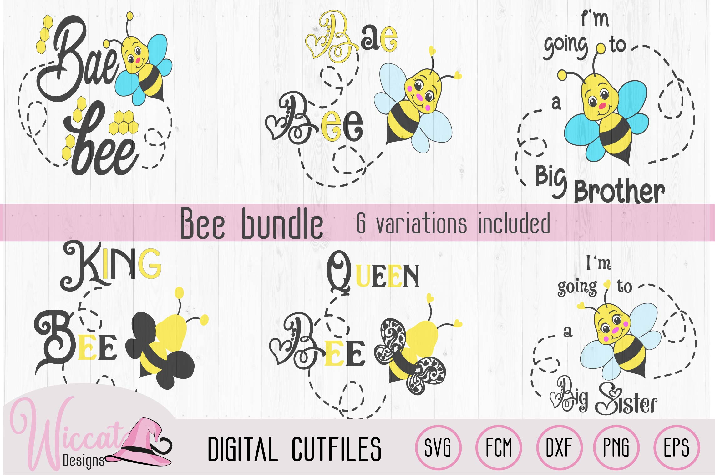 Bee bundle, Queen bee, sister, brother, baby , king, example image 1