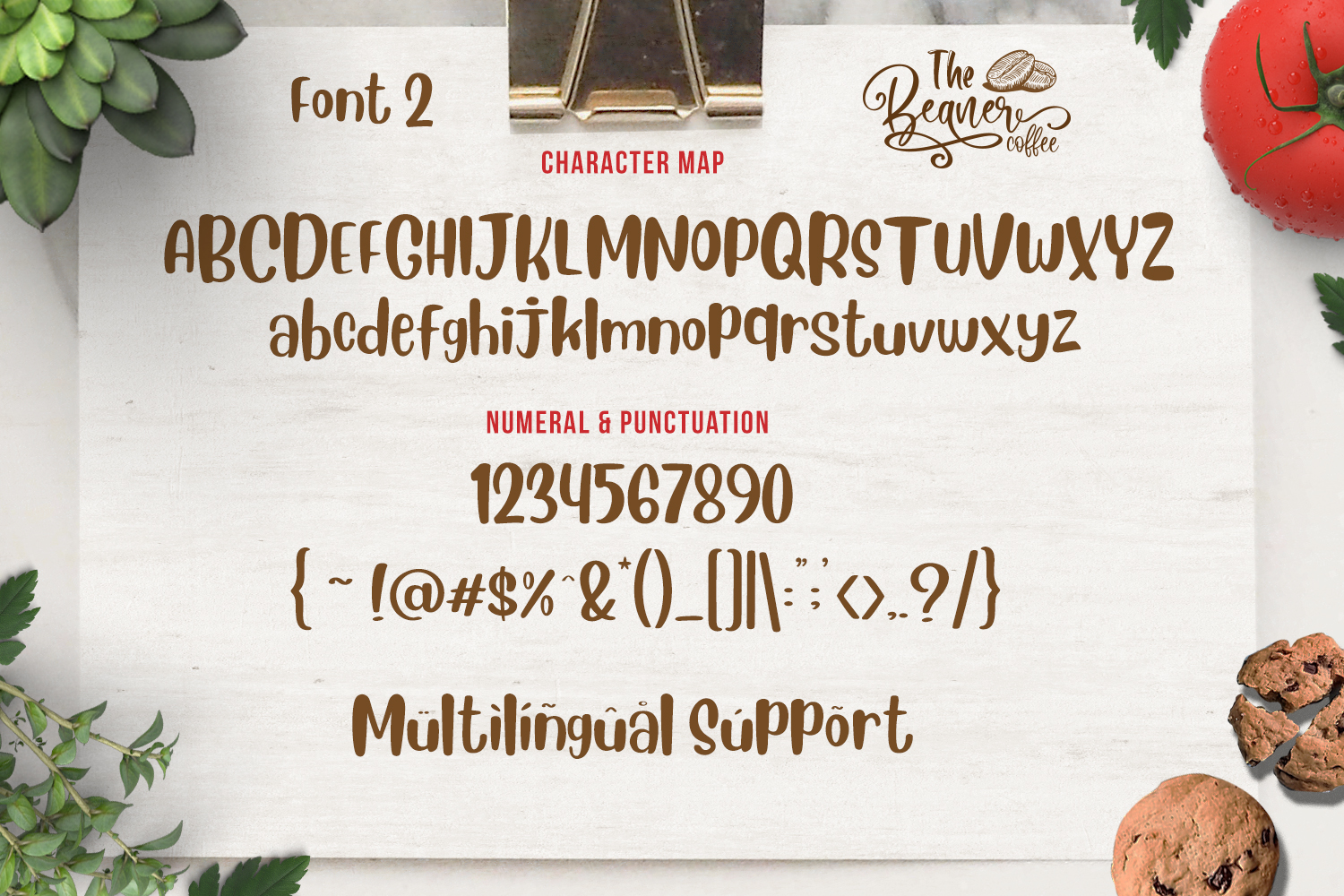 The Beaner - 5 Font & 41 Clipart example image 16