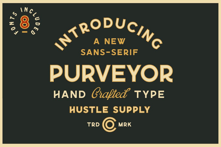 Purveyor - 8 Fonts Included - Font Bundle example image 1