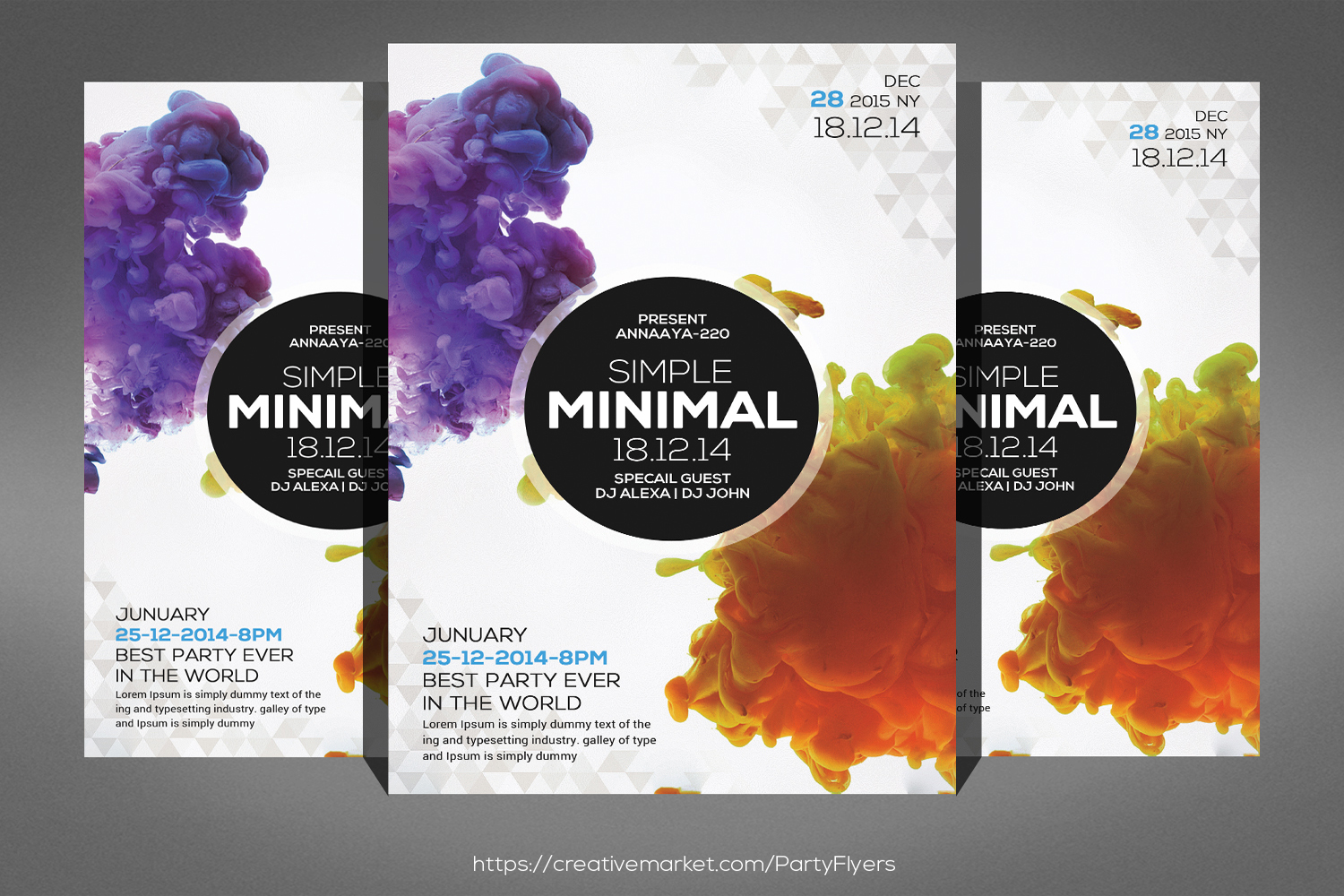 Simple minimal Flyer Template example image 1