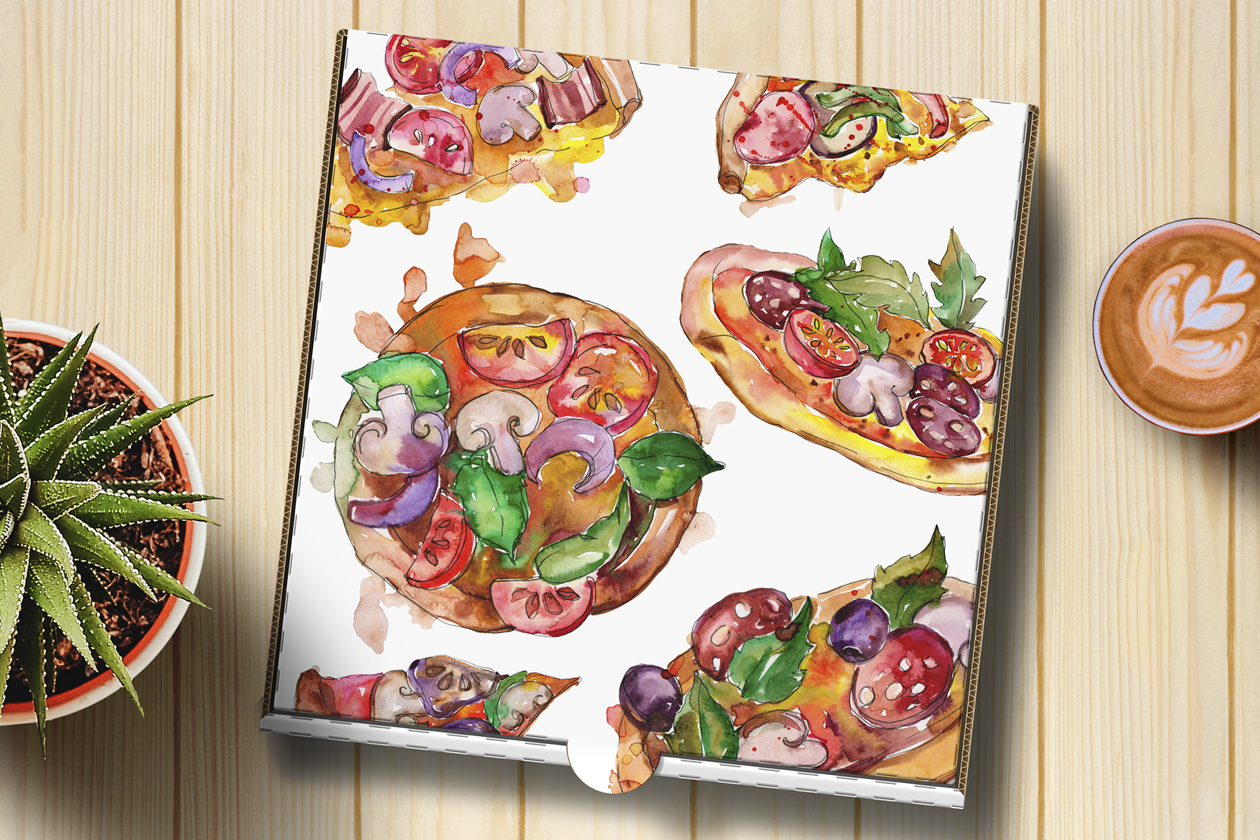 Fast food hot dog watercolor png example image 4