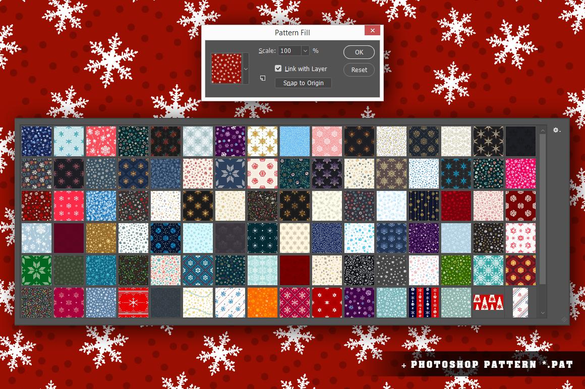 100 Snowflake Seamless Patterns example image 19