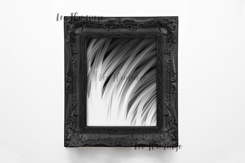 Vintage black frame mockup, Antique 8x10 picture frame mock example image 3