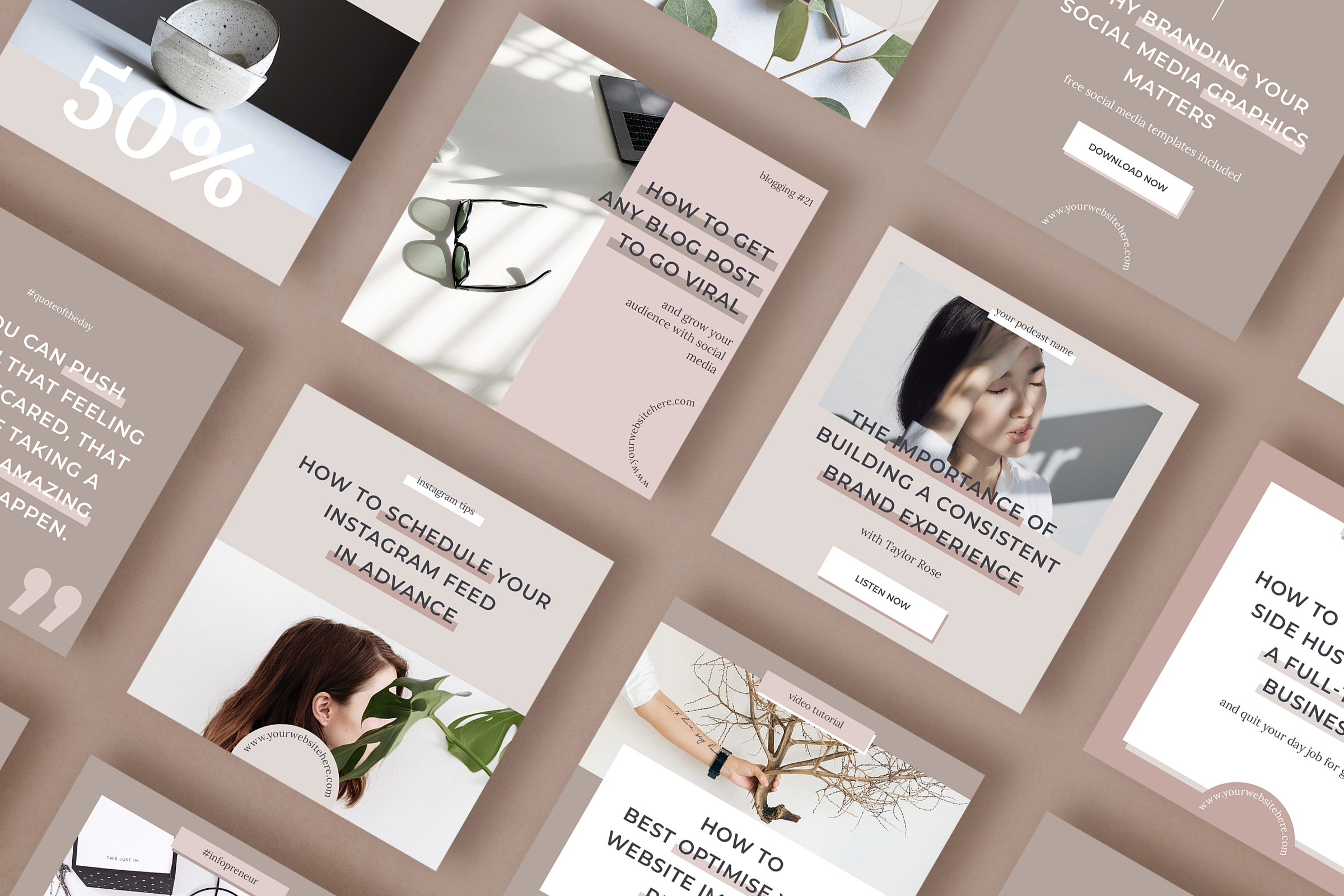 Instagram post template pack for bloggers example image 3