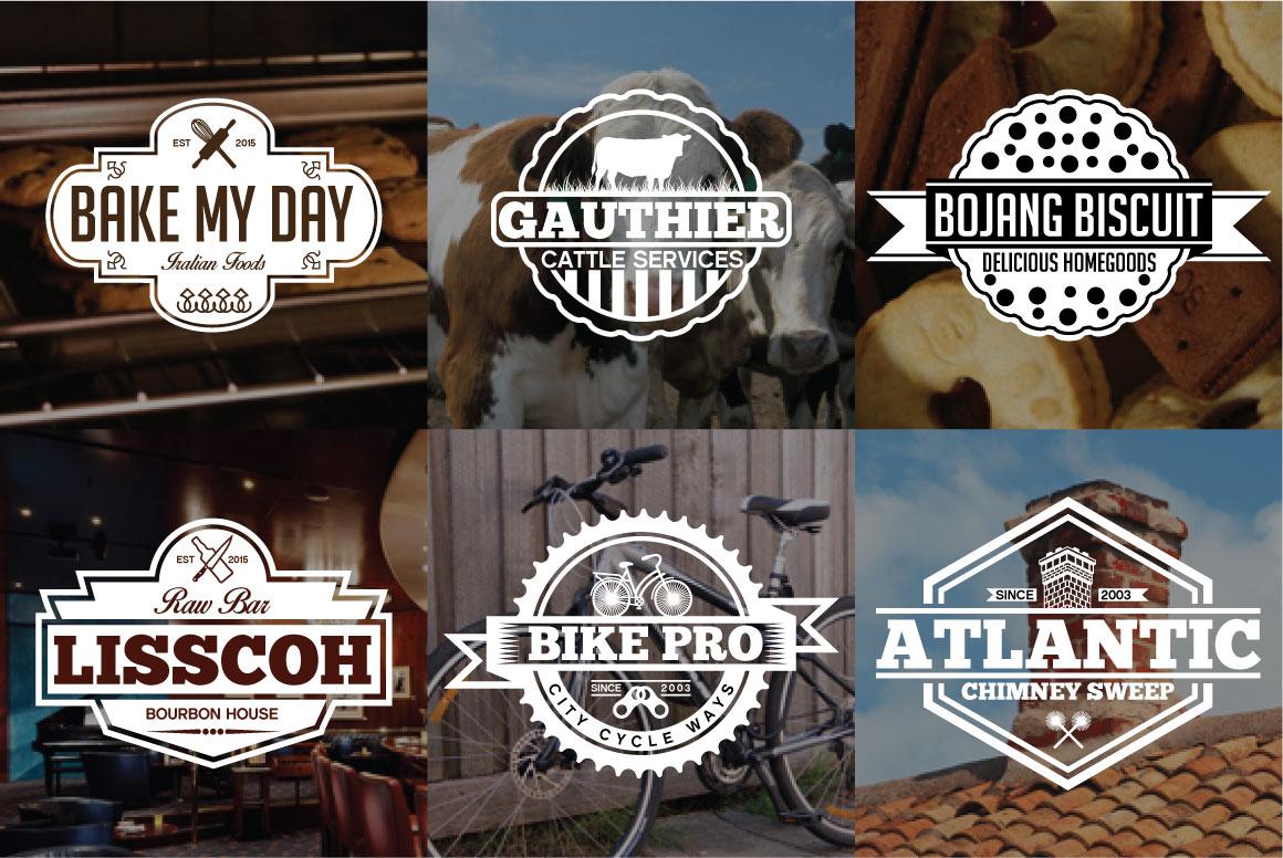 60 Vintage Bundle Logos Labels & Badges example image 3