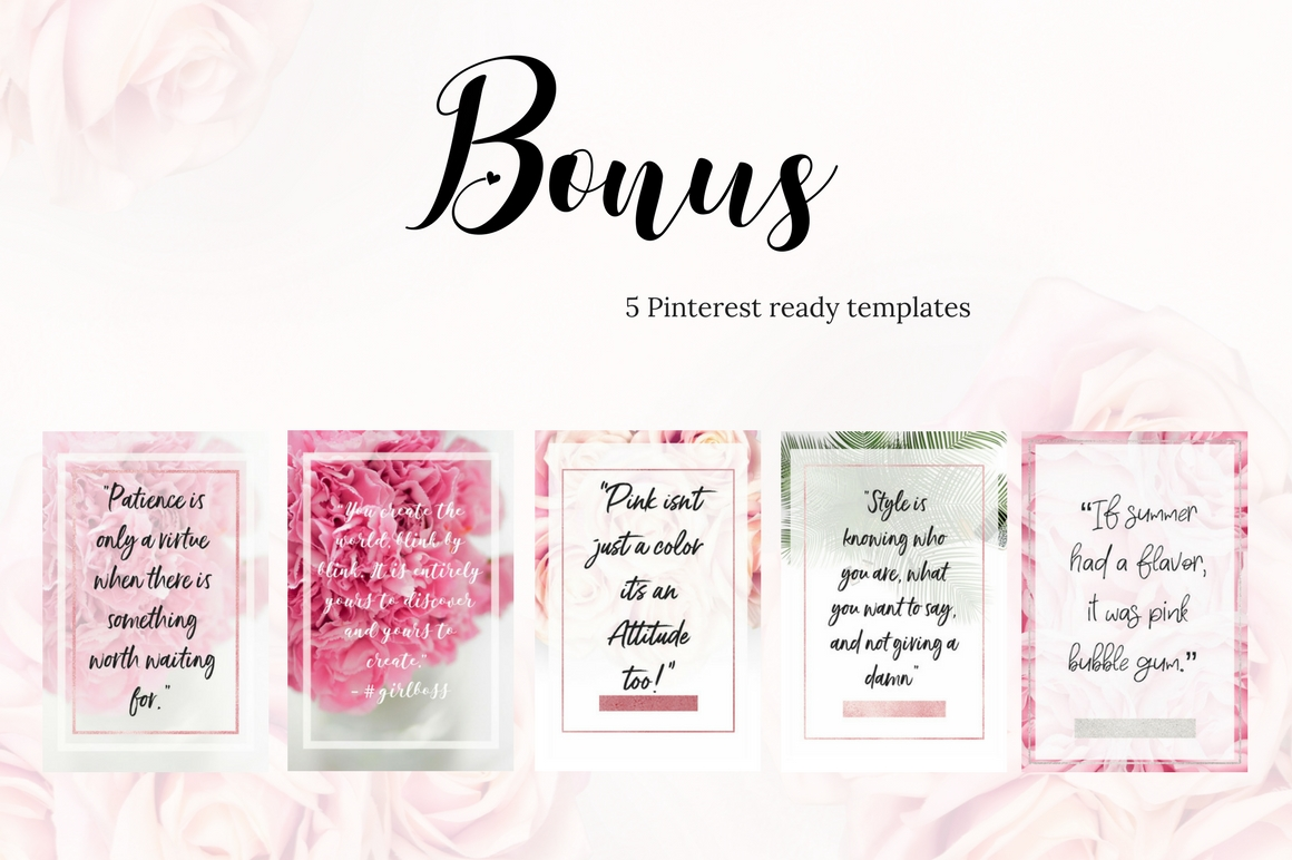 Pinterest templates- Pink passion example image 5