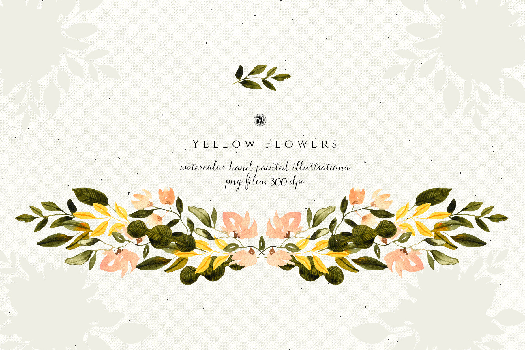 Yellow Watercolor Flowers example image 2