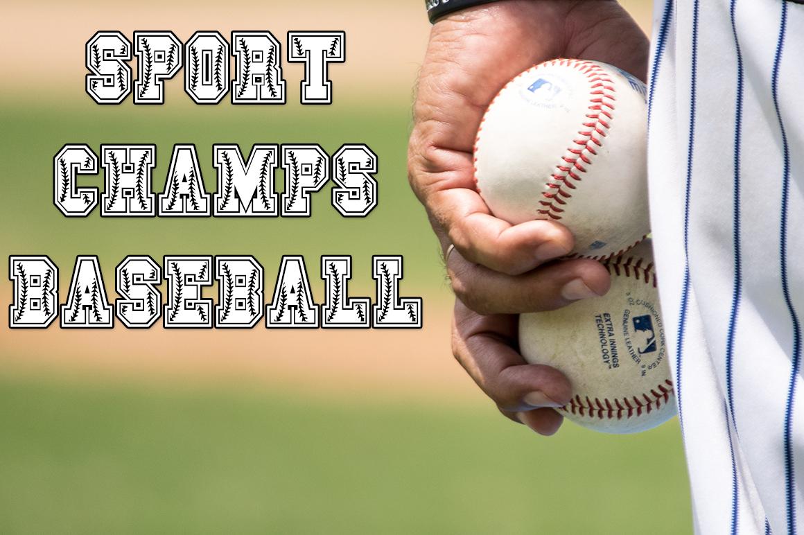 Sport Champs Baseball Font example image 1