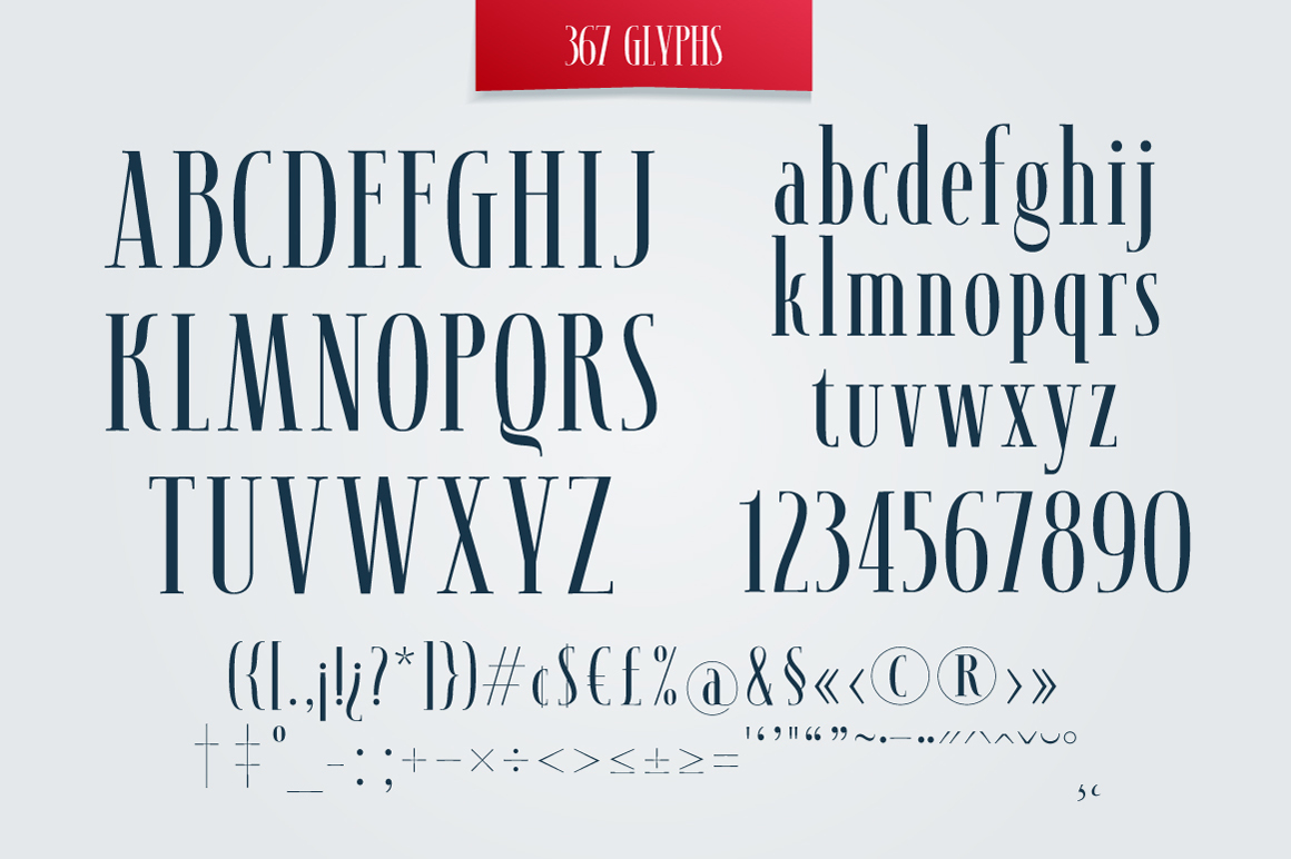 SYNOPSIS typeface example image 3