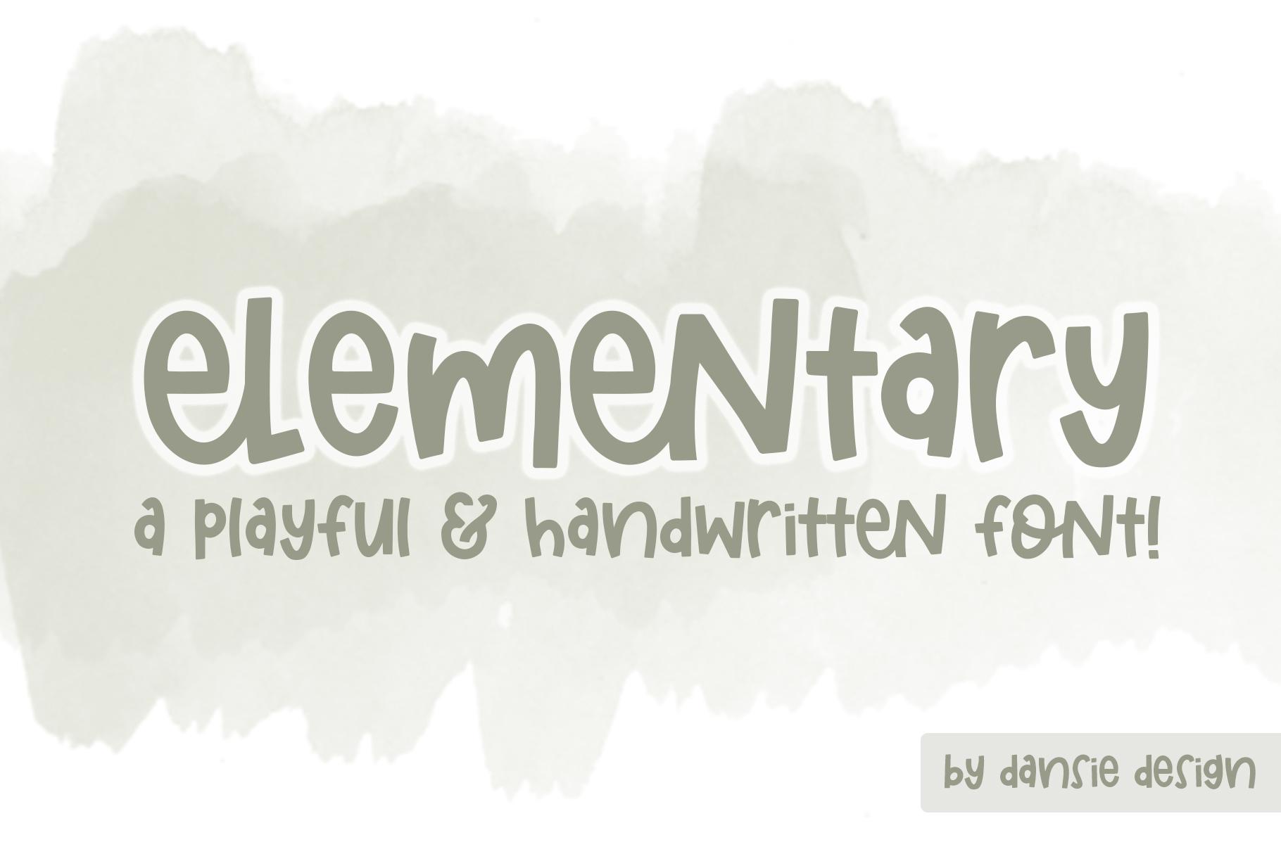 Elementary Font example image 1