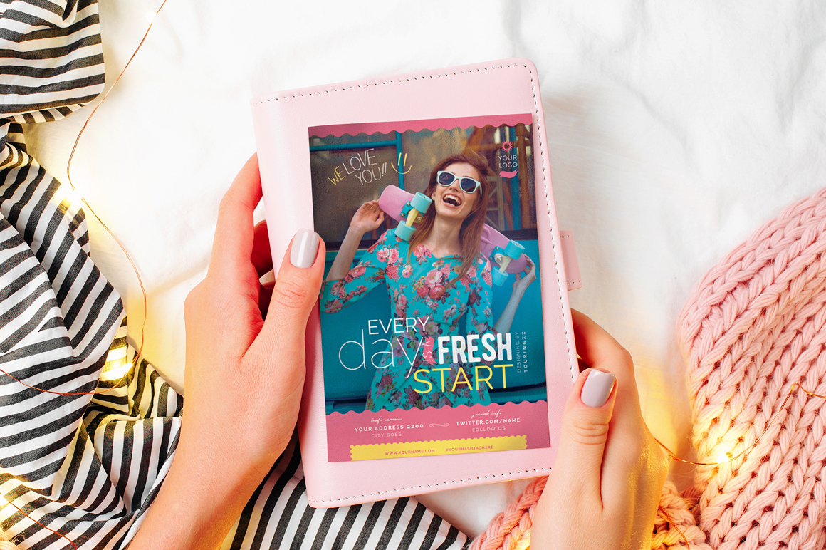 Every Day Is A Fresh Start Flyer Template example image 2