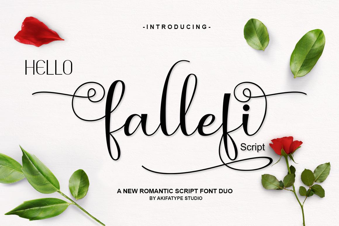 fallefi - Font Duo example image 1