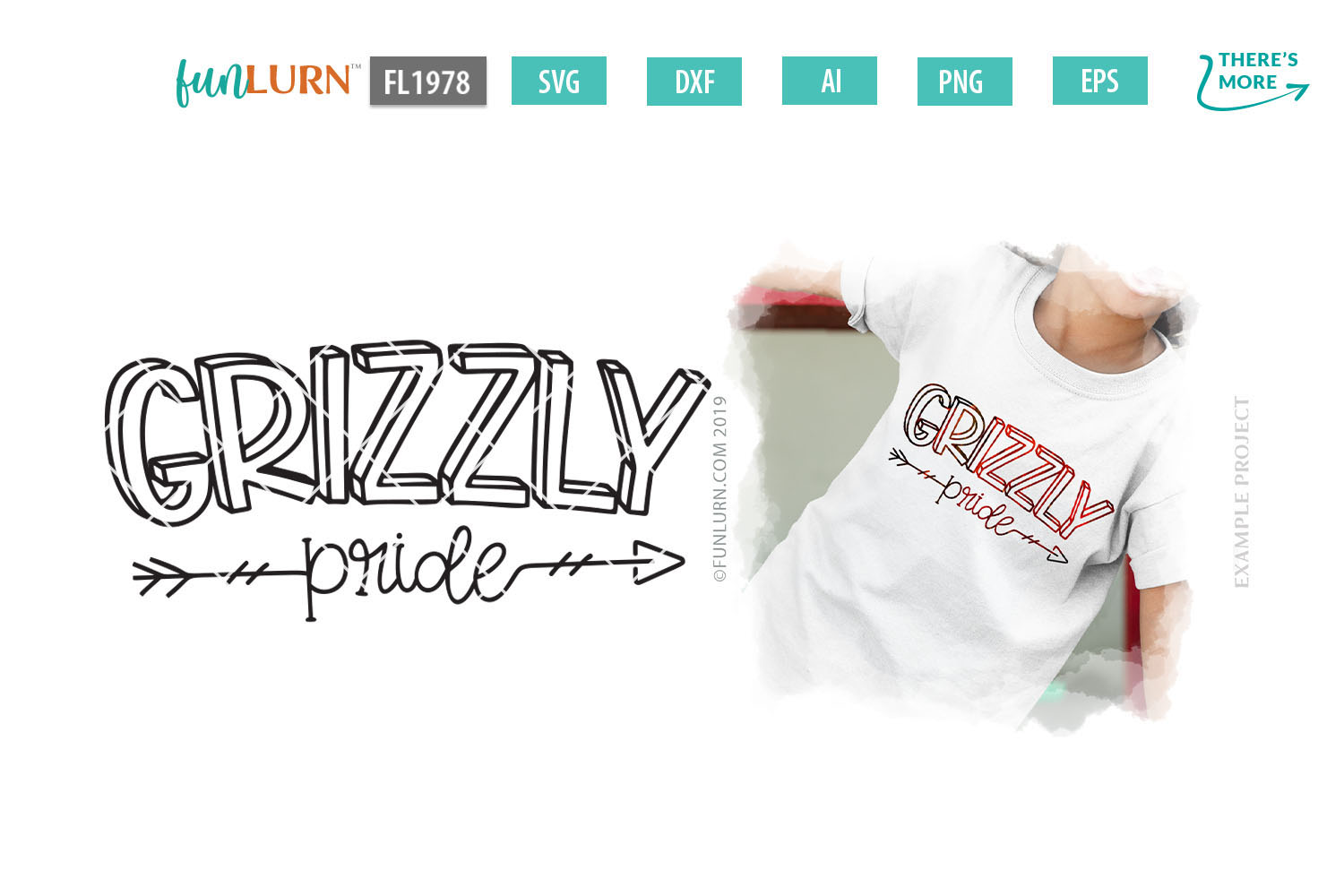 Grizzly Pride Team SVG Cut File example image 1