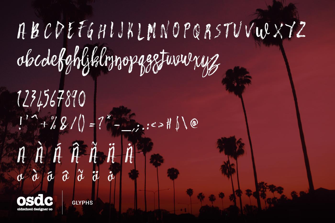 Las Vegas Brush Font example image 6