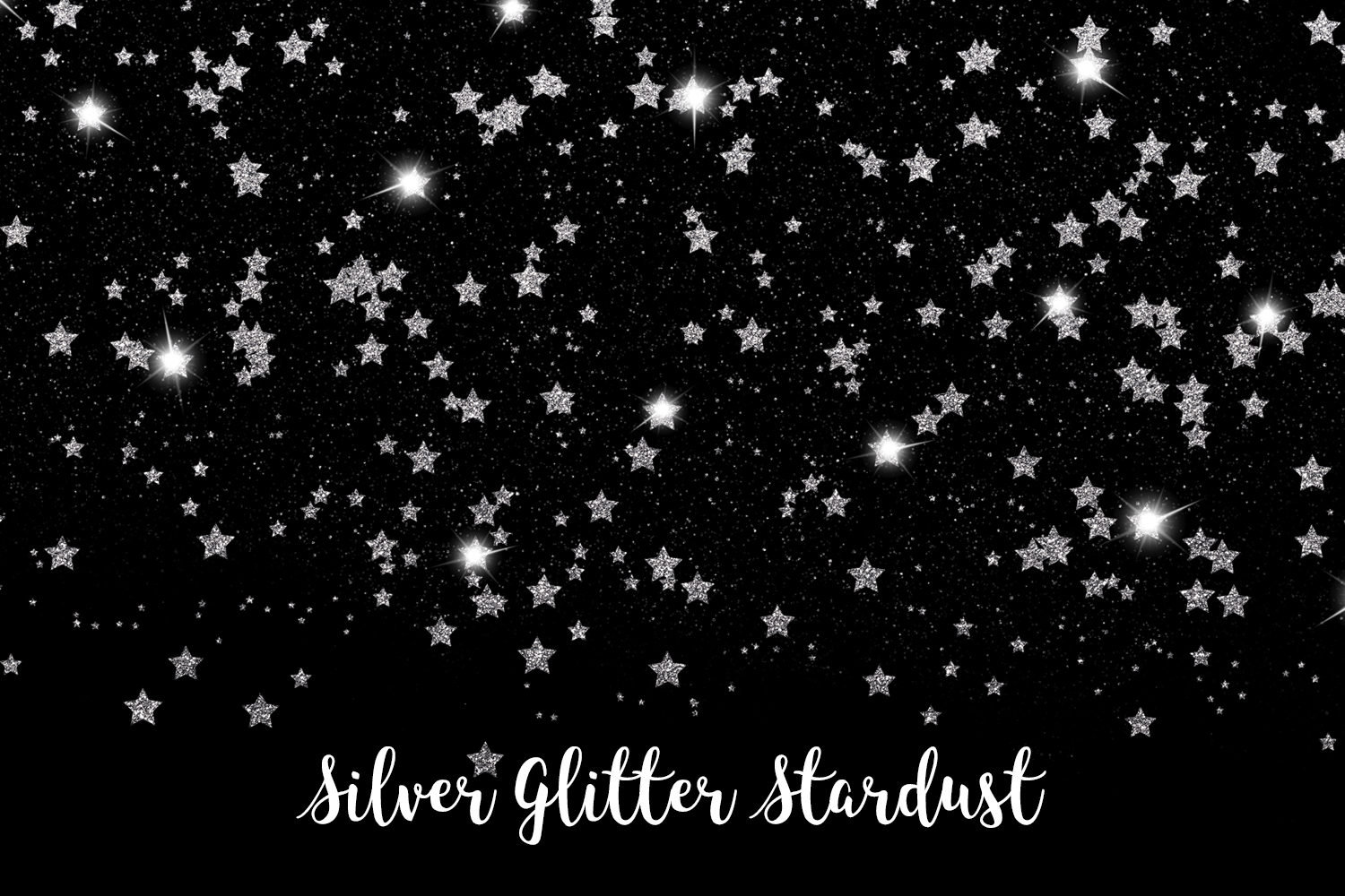Silver Glitter Stardust, Transparent PNG example image 12