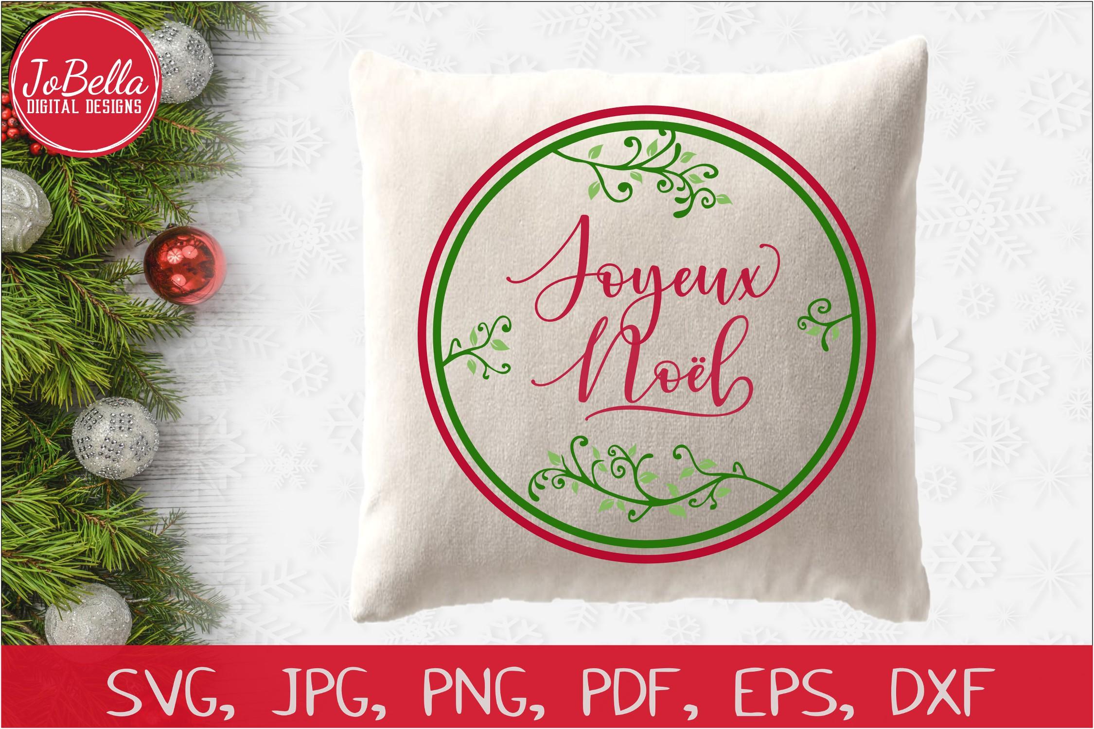Joyeux Noel SVG Printable & Sublimation PNG example image 2