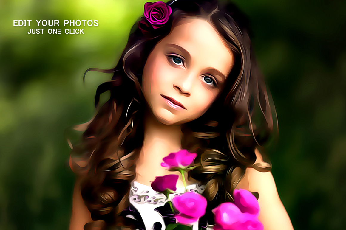 Professional cartoon Oil Painting Effect example image 3