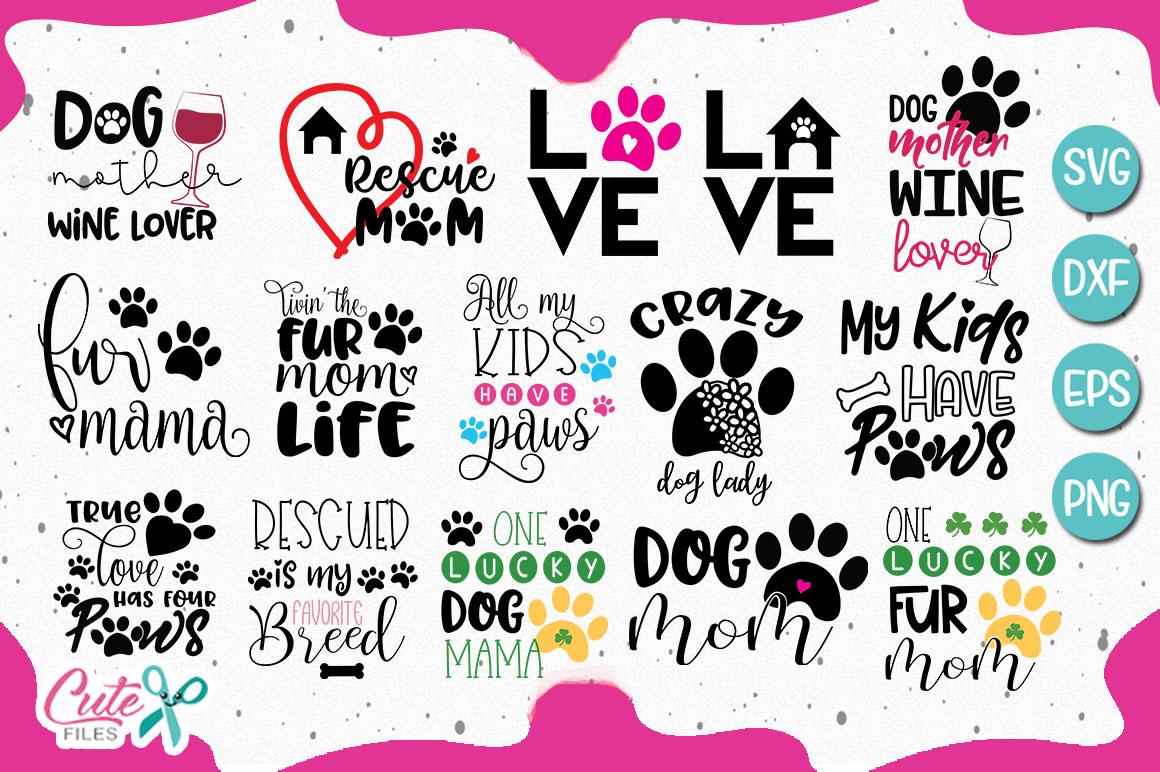 Mom of the dog bundle SVG cut file example image 1